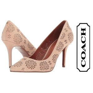 NEW Waverly Tea Rose Perforated Suede Pump, 6.5